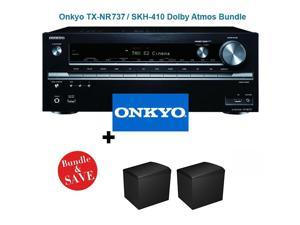 Onkyo TX-NR737 7.2-Channel Network A/V Receiver + Onkyo SKH-410 Dolby Atmos-Enabled Speaker System (Set of 2)