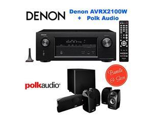 Denon AVR-X2100W 7.2 Channel Full 4K Ultra HD A/V Receiver with Bluetooth and Wi-Fi + Polk Audio 5.1 TL1600 Speaker System