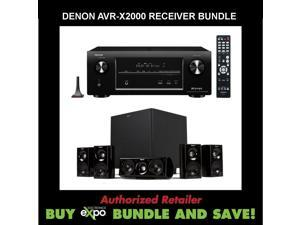 Denon AVR-X2000 In-command 7.1-Channel 4K Ultra HD Networking Home Theater Receiver, Plus Klipsch HDT-600 Home Theater Speaker System