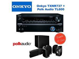Onkyo TX-NR737 7.2-Channel Network A/V Receiver + Polk Audio 5.1 TL1600 Speaker System