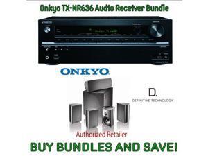 Onkyo TX-NR636 7.2-Channel Network A/V Receiver & Definitive Technology ProCinema 600 5.1 Speaker System (Set of Six, Black)