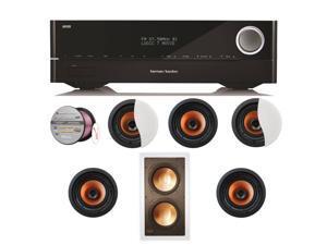 HARAVR1510BND83 Harman Kardon AVR 1510 5.1-Channel 75-Watt Networked Audio/ + Speakers Bundle