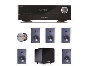 HARAVR1610BND52 Harman Kardon AVR 1610 5.1-Channel 85-Watt Roku Ready Netwo + Speakers Bundle