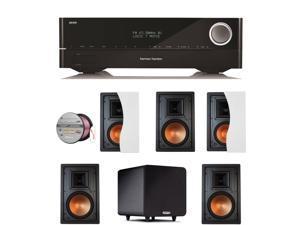 HARAVR1610BND56 Harman Kardon AVR 1610 5.1-Channel 85-Watt Roku Ready Netwo + Speakers Bundle