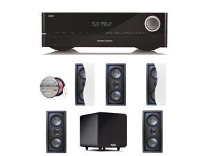 HARAVR1610BND58 Harman Kardon AVR 1610 5.1-Channel 85-Watt Roku Ready Netwo + Speakers Bundle