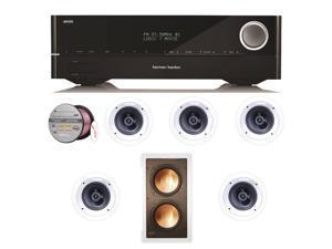 HARAVR1610BND78 Harman Kardon AVR 1610 5.1-Channel 85-Watt Roku Ready Networke + Speakers Bundle
