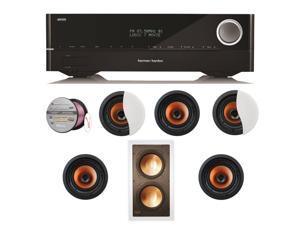 HARAVR1610BND83 Harman Kardon AVR 1610 5.1-Channel 85-Watt Roku Ready Networke + Speakers Bundle