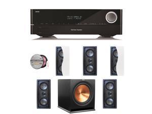HARAVR1610BND92 Harman Kardon AVR 1610 5.1-Channel 85-Watt Roku Ready Netwo + Speakers Bundle