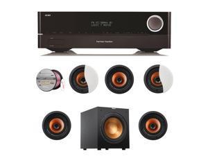 HARAVR1710BND151 Harman Kardon AVR 1710 7.2-Channel 100-Watt N + Speakers Bundle