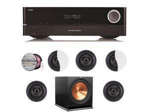 HARAVR1710BND165 Harman Kardon AVR 1710 7.2-Channel 100-Watt N + Speakers Bundle