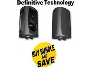 DEFAW5500BBND1 Definitive Technology AW 5500 Outdoor Speakers (Pair Black) Bun + Speakers Bundle