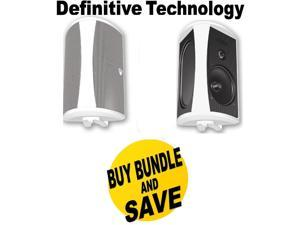 DEFAW6500WBND1 Definitive Technology AW6500 200 W RMS Speakers - 3-way - White + Speakers Bundle