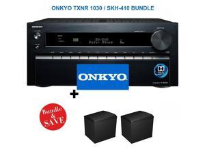 ONKTXNR1030BND1 Onkyo TX-NR1030 9.2-Ch Dolby Atmos Ready Network A/V Receiver  + Speakers Bundle