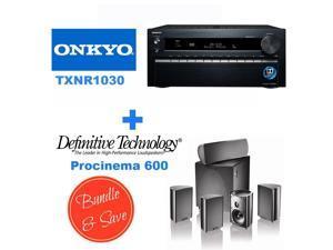 ONKTXNR1030BND7 Onkyo TX-NR1030 9.2-Ch Dolby Atmos Ready Network A/V Receiver  + Speakers Bundle