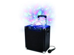 IONIPA25P Ion Audio Block Party Live Portable Bluetooth Speaker System with Party Lights and Wheels and Handle for Transport