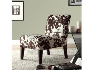 Home Creek Cow Hide Print Lounge Chair