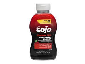 GOJO 2354-08 Gel Hand Cleaner, Cherry, Red