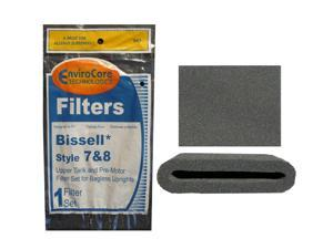 1 Set of Bissell Type or Style 7 / 8 / 14 Foam Vacuum Cleaner Filter 3093, 3290 Kit 1 Upper Tank Filter, 1 Premotor Filt