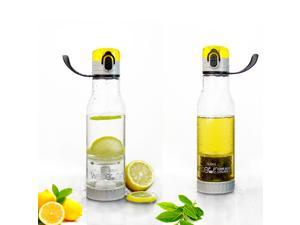 Tuosun Electronic Wote 2-in-1 Fruit & Tea Infuser Sports Water Bottle With Built in Straw and Strap
