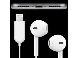 iPhone 7, 7 Plus Earpods with Lightning Connector Headphone Wired Earbuds with Music Control