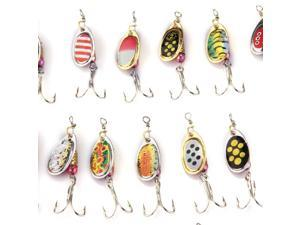 30 X Fishing Lures Crankbait Minnow Poper Bass Baits Hooks Tackle
