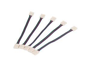 5 X Connector Adapter 4 Pin for RGB 5050/3528 SMD LED Strip