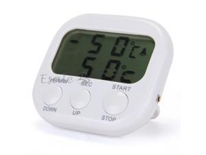 LCD Digital Timer Thermometer Alarm Cooking Kitchen BBQ Food White New