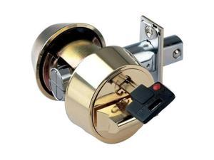 Mul-t-lock HDC-05-206 Hercular Double Cylinder Captive key deadbolt, Brass, HIGH SECURITY, INTERACTIVE + 206 KEYWAY