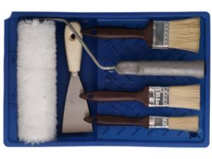 Proman Tool, 86008, 7 Piece, Paint Set, Includes Brushes, Paint Roller, Putty Knife & Tray