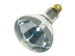 GE, 48069, 125 Watt R40 Infrared Heat Lamp Flood Reflector Light Bulb, Clear