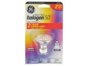 GE, 16751, Q50GU10/FL/CD, 50 Watt 120 Volt, Edison Quartz Halogen Flood Light Bulb, MR16 Shape, GU10 Base