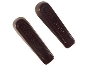 "Faultless, 31935, 2 Pack, Brown, Plastic, 4"", Wedge Door Stop"