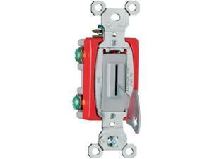 Pass & Seymour, PS20AC1L, Grey, 20 Amp, Heavy Duty Keyed Single Pole Toggle Switch