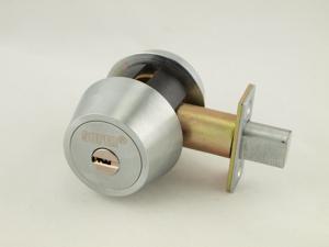 Maxtech, (Mul-t-lock Hercular HD1-26D Like) Satin Chrome, Single Cylinder Deadbolt With Thumb Turn, HIGH SECURITY, 006 KEYWAY