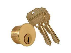 "Marks Metro Mortise Cylinder, 2161/3-1C, 1-1/8"" Solid Brass Replacement Mortise Cylinder Lock"
