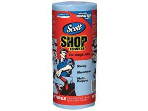 Kimberly Clark Professional Scott'S, 75130, 55 Count Per Roll, Blue Shop Towel, Absorbent, Disposable, 1 Roll