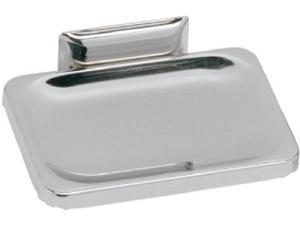 """Decko Bath Products, 38000, Wall Mount Soap Dish, 4-1/2"""" x 3-1/2"""", Chrome Plated"""