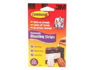 3M Command, 17200CL, 16 Pack, Replacement Adhesive Strips With Command Adhesive, 8 Small 4 Medium 4 Large Strips