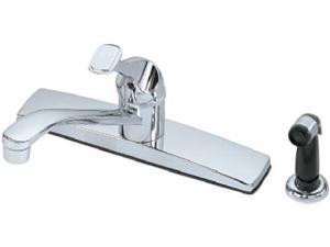 BayPointe, 624124, Basic Chrome Finish, Single Lever Handle Kitchen Faucet, With Spray