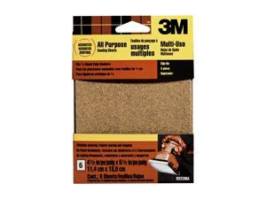 "3M, 9223NA, 6 Pack, 4.5"" x 5.5"", Assorted Clip On Palm Sander Sheet"