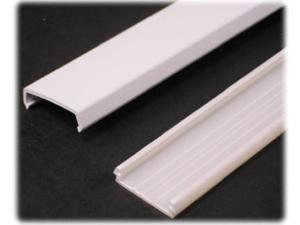 "Wiremold, NMW1, 5', White, Plastic, Wire Channel, 1-5/16"" x 3/8"", 2 Parts, Base & Cover"