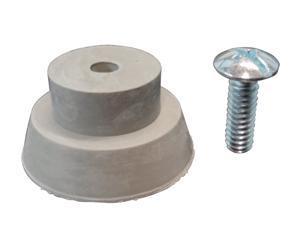 Ultra, 87007-1, 1 Piece, Grey Door Stop Replacement Rubber Tip for Drop Down Door Holder Stops With Screw