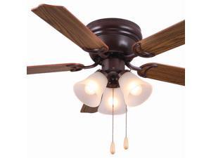 "Ultra Hardware, 74004, Oil Rubbed Bronze, 42"" Ceiling Fan Uses 3 Lamp Lights Bulbs"