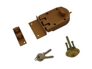 Ultra Hardware 44860 Jimmy Proof Deadlock Deadbot With Angle and Flat Strike - Brass, Boxed