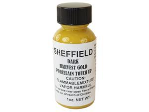 Sheffield, 1452, 1 OZ Bottle, Dark Harvest Gold, Porcelain Touch Up Paint, For Porcelain Surfaces
