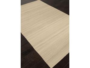 Flat-Weave Solid Pattern Taupe Tan (2x3) Wool Area rug