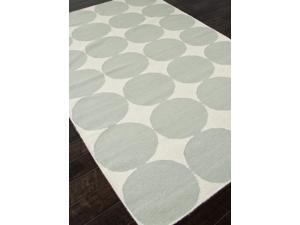 Flat-Weave Geometric Pattern Blue Ivory (5x8) Wool Area rug