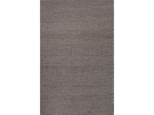Wool and Hemp Taupe Gray Tone-on-Tone Pattern Natural Fiber Rug (8' x 10')