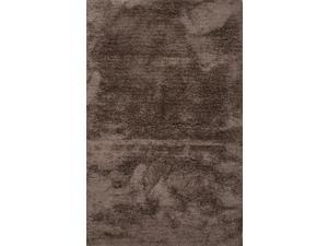 Polyester Taupe Tan Solid Pattern Ultra Plush Rug (2' x 3')