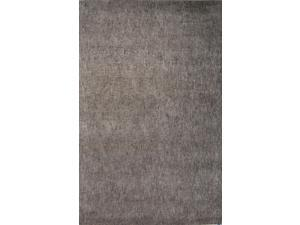 Wool and Art Silk Taupe Tan Solid Pattern Easy care Rug (5' x 8')
